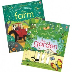 The Farm & The Garden -Pack of 2 USBORNE Peep Inside